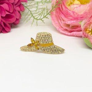 VINTAGE⚜️MONET Pavé Crystal Gold Sun Hat Pin